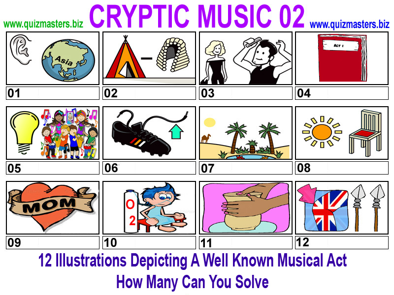 Cryptic clues quiz