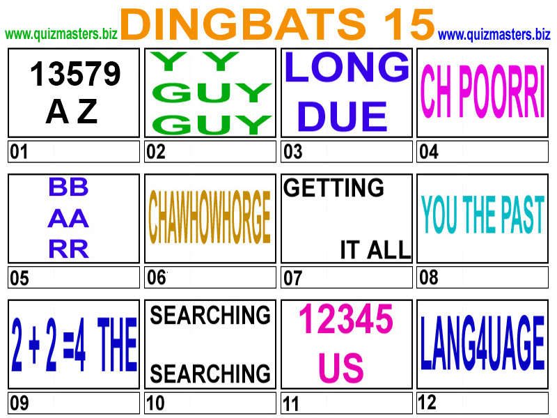 free dingbats brain teasers