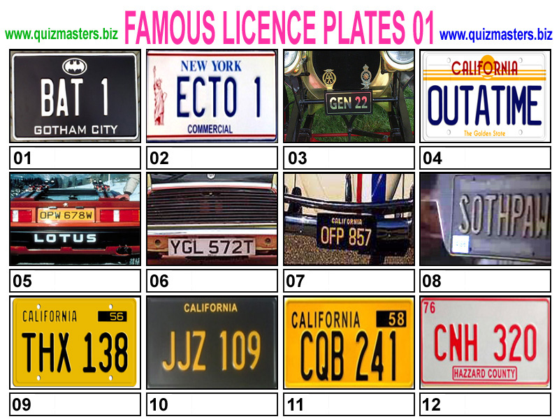 Funny Celebrity License Plates - my-dmv.org