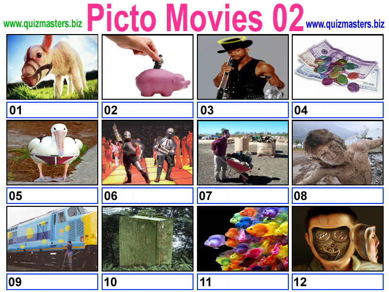 Cryptic movie quiz